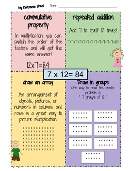 "3rd Grade Math: I know My ""10"" Multiplication Facts: Math Fact Literacy"