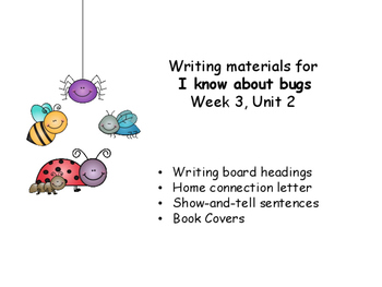 I know about bugs, Unit 2, Week 3, Concept Response for Wonders Reading Program