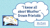 I know all about Weather Crown Printable