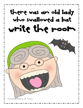 I know an Old Lady Who Swallowed a Bat Write the Room
