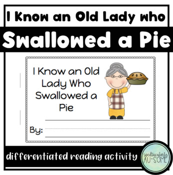 I know an Old Lady who Swallowed a Pie - visuals and acitvity book