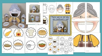 I know an Old Lady Who Swallowed a Pie! (Sequencing Activity)