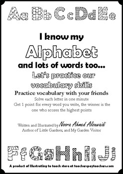 I know my Alphabet and lots of words too - Let's practice our vocabulary skills