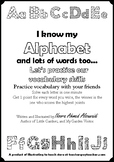I know my Alphabet and lots of words too - Let's practice
