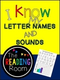 I know my LETTER NAMES and SOUNDS! Self-assessment sheets