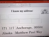 I know my address template