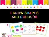 I know shapes and colours morning work binder fun activity
