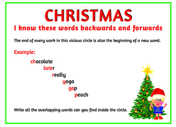I know these words backwards and forwards (A Christmas word wheel )
