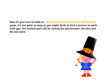 I know these words backwards and forwards (A Thanksgiving word wheel)