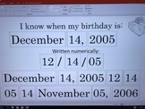 I know when my birthday is template