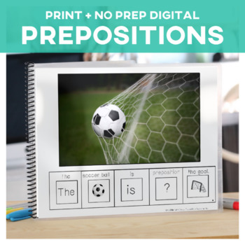 Prepositions: Adapted Book Soccer Edition