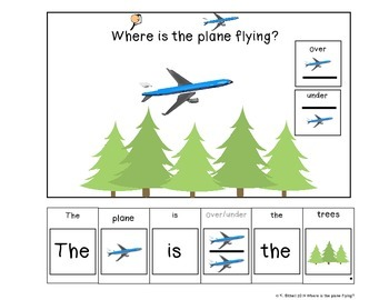 PREPOSITIONS: Over and Under Where Is The Plane Flying? Adapted Book
