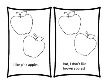 I like Apples---predictable text book for early readers