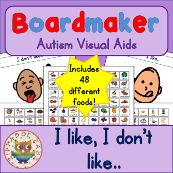 I like/I don't like FOODS pack & 96 symbols - Boardmaker Visual Aids for Autism