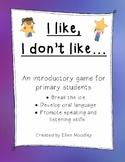 I like, I don't like (food) - Icebreaker Game