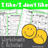 I like - I Don't Like - Fruit -Worksheets and Activities