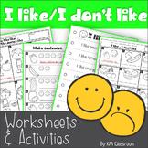 I like - I Don't Like - Fruit -Worksheets