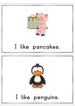 I like Pancakes Easy Reader Patterned Sentences for Beginners