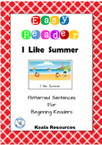 I like Summer Easy Reader Patterned Sentences for Beginning Readers