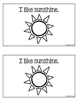"""I like Summer"" Emergent Reader"