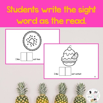 I like TO eat interactive Sight Word Reader