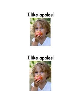 I like apples: an emergent reader