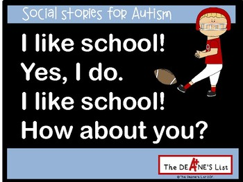 Social Stories for Autism: I like school. Yes I do!