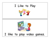 I like to play ____ Guided Reading Book