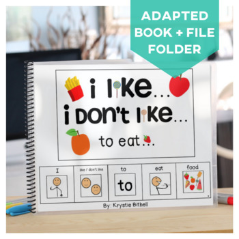 OPINION:I like...I don't like... to Eat... Adapted Book Special Education Autism