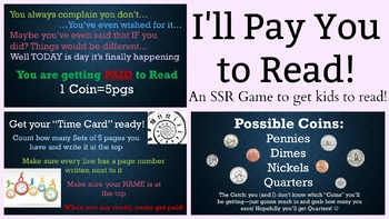 I'll Pay You to Read!
