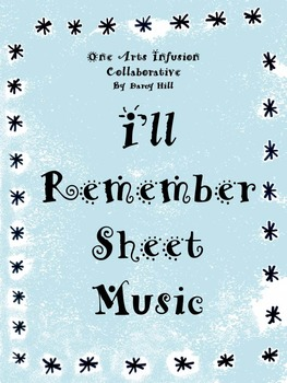 I'll Remember Sheet Music (when someone the students love, dies) FREEBIE.