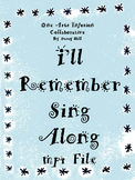 I'll Remember Sing Along mp4 file (when someone the students love, dies)