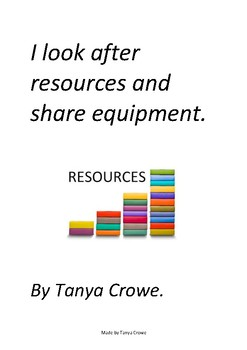 I look after resources and share equipment.