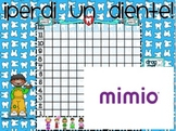 I lost a tooth! Chart  Spanish MIMIO