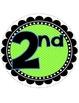 I love 2nd Grade banner- Blue & Green polka Dot theme