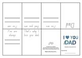 I love Dad by Eric Carl- Activity Page