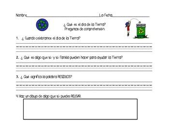 I love Earth/Yo amo mi planeta -Reading/Writing Activities in English & Spanish