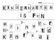 """I love Kindergarten"" (UPPER/LOWER CASE) first day cutting activity"