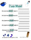 I love Winter - 5 Senses Worksheet