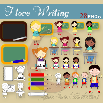 I love Writing- Clipart graphics collection 28 images