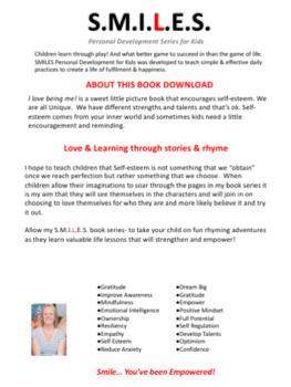 I love being me! - Life Skills Rhyming Book (printable download)