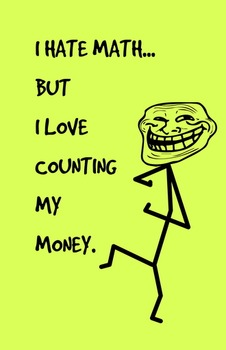 I love counting - Math Poster