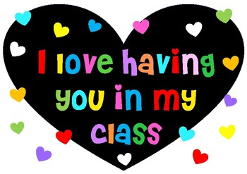 I love having you in my class