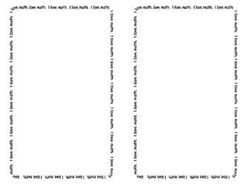 I love math, English, algebra...Task Card Starter! {3 Different Borders}