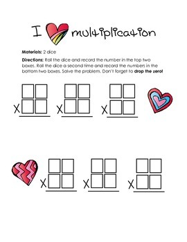 I love multiplication (dice game)