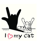 I love my Cat, ASL Animal & Free ASL Coloring Book