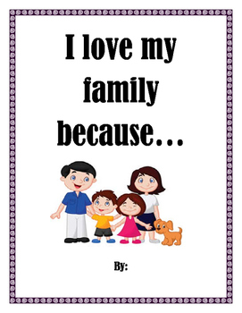 I love my family because cover page