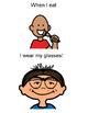 I love my glasses (social story-boy)