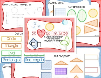 I love shapes in English and Spanish (COLOR)