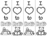 I love to read bookmark